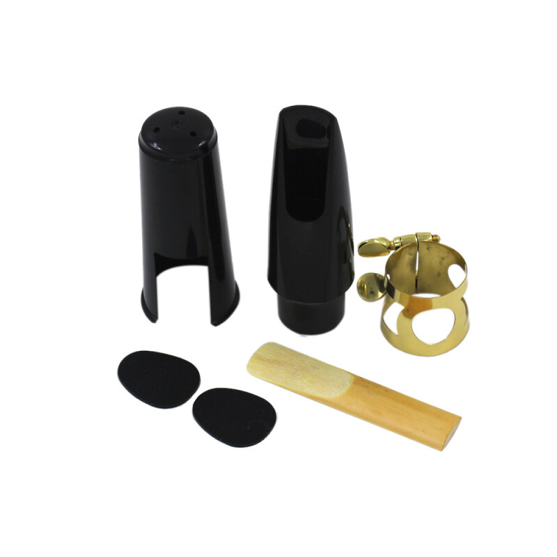 Alto Sax Saxophone Mouthpiece Plastic with Cap Metal Buckle Reed Mouthpiece Patches Pads Malaysia