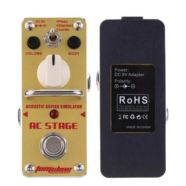 AROMA AAS-3 AC Stage Acoustic Guitar Simulator Mini Single Electric Guitar Effect Pedal with True Bypass Malaysia