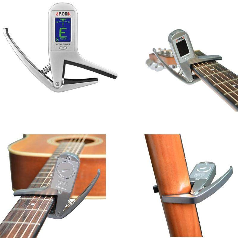 Aroma AC-05 Clip-on Guitar Tuner & Capo 2-in-1 for Guitar Bass Chromatic Multifunction Universal Exquisite Portable Malaysia
