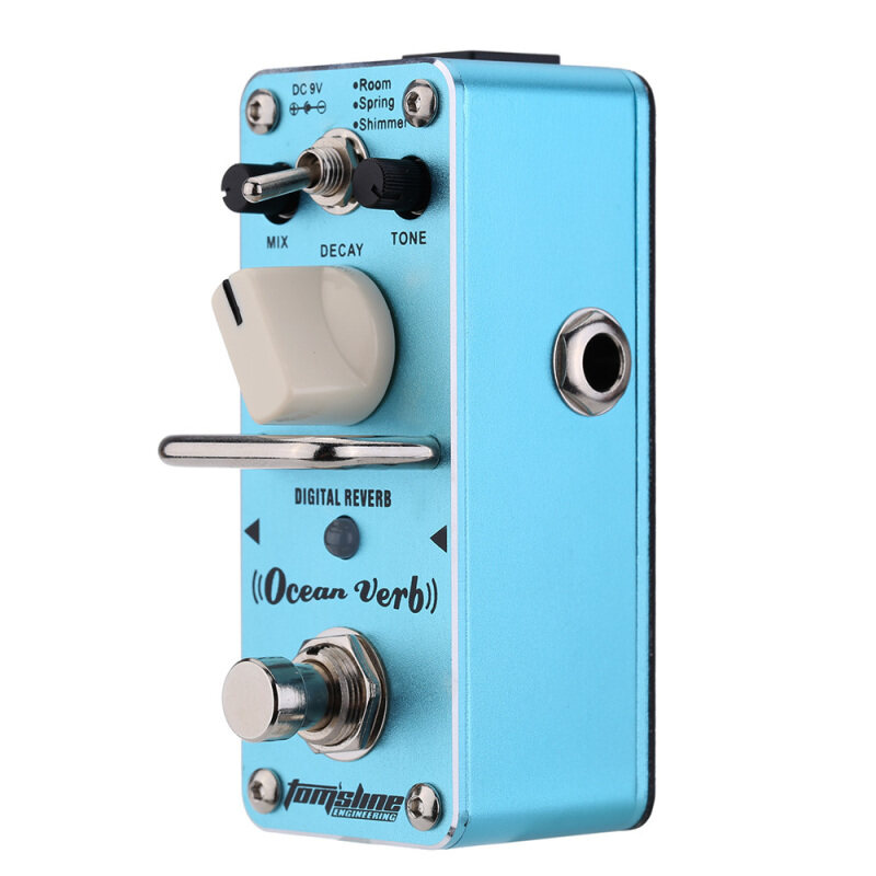 AROMA AOV-3 Ocean Verb Digital Reverb Electric Guitar Effect Pedal Mini Single Effect with True Bypass Malaysia