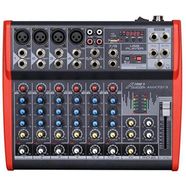 Audio 2000 S Audio2000S AMX7313 Profesional Delapan Saluran Audio Mixer dengan USB dan Prosesor DSP-Intl
