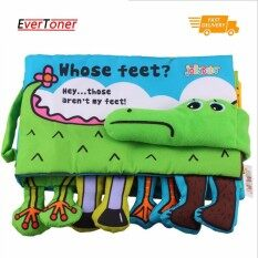 Baby Cloth Book Children Kids Educational Toys Soft Fabric Feet Crocodile English Learning Story Quiet Book For Newborn By Evertoner.