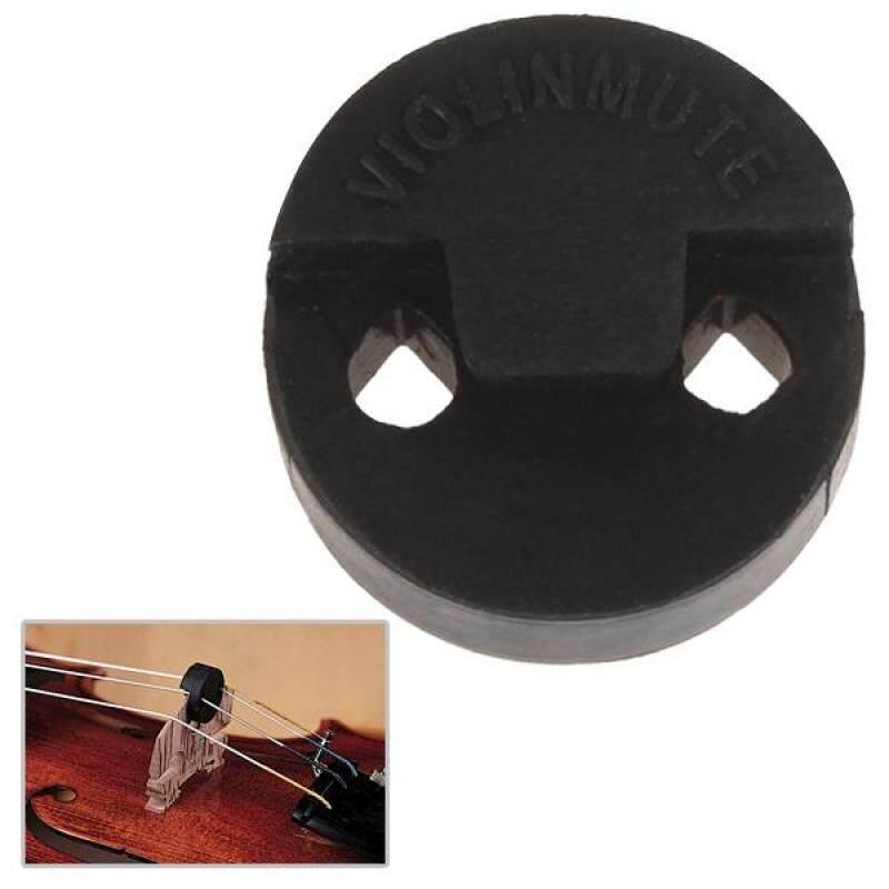 1pc Black Acoustic Round Rubber Violin Mute Malaysia