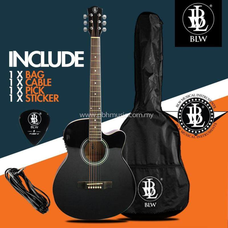 BLW 40 Inch Standard Orchestra Semi Acoustic Electric 4 Equalizer Guitar for Beginners SO400EQ Comes with Bag, Cable, Pick and Merchandise Sticker Malaysia