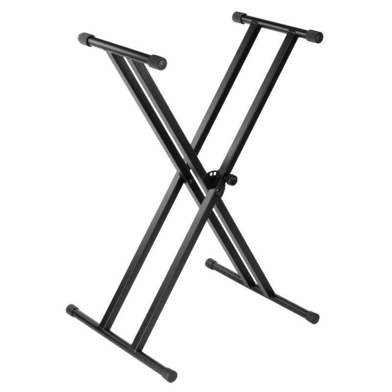 [USE VOUCHER 10% OFF] BLW Heavy Duty Double X Keyboard Music Stand (Black) Malaysia