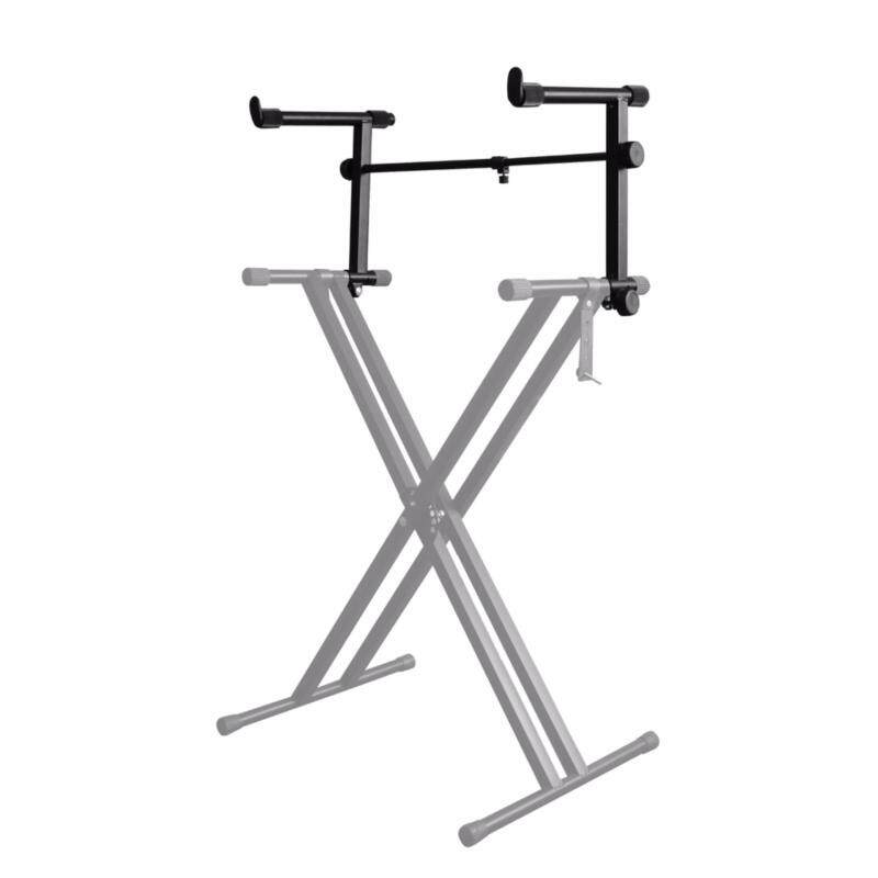 [USE VOUCHER 10% OFF] BLW Music Keyboard Stand Extension Arm Second Tier (Black) Malaysia