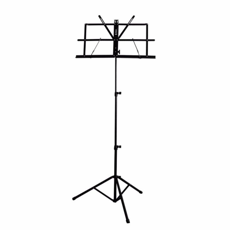 [USE VOUCHER 10% OFF] BLW Music Stand with Carrying Bag S-MS Suitable for Guitar, Ukulele, Violin, Keyboard (Black) Malaysia