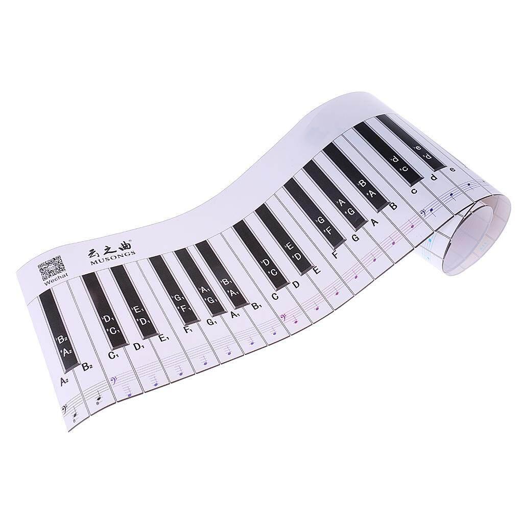 BolehDeals 88 Kunci Piano Keyboard Latihan Belajar Versi untuk Pemula Piano Practice-Intl