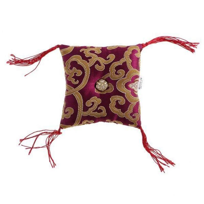 BolehDeals Square Tibetan Singing Bowl Cushion Pillow Nepal Handmade for Buddha Bowl #2 Malaysia