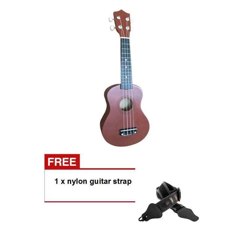 (Buy one get one freebie)Mini 21 Soprano Soprano Ukulele Uke Wood Hawaii Style Guitar Coffee Malaysia