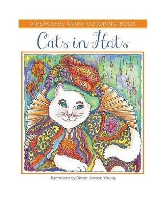 Cats In Hats A Peaceful Artist Coloring Book