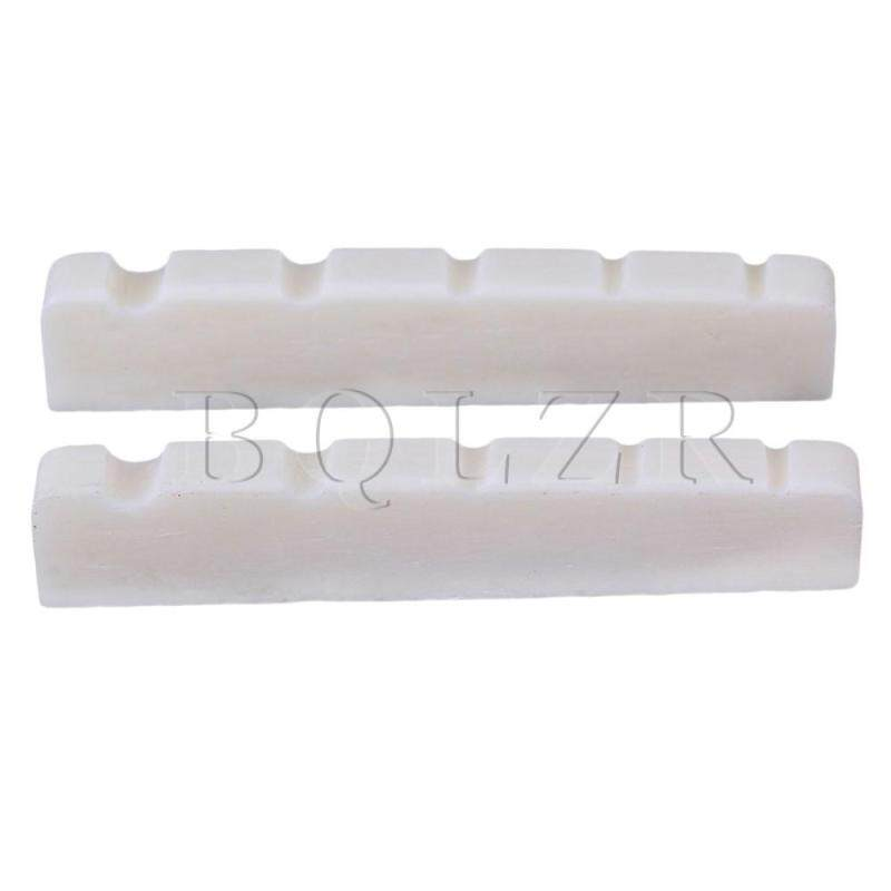 Cattle Bone 5 Strings Guitar Slotted Nut for Bass Guitar Set of 2 White Malaysia