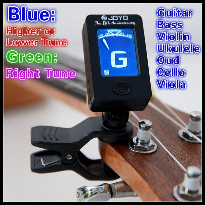 Clip On Chromatic Clip-On Guitar Tuner Automatic Digital Tone Tuner for Acoustic Electric Guitar Bass Chromatic Violin Ukulele Malaysia