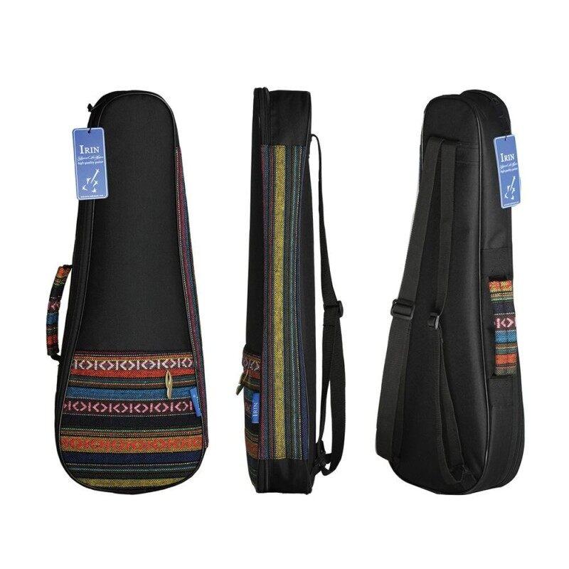 Colorful 21 Soprano Ukelele Ukulele Uke Bag Backpack Case Ethnic National Style Durable Cotton Thicken Padding with Adjustable Shoulder Strap Malaysia