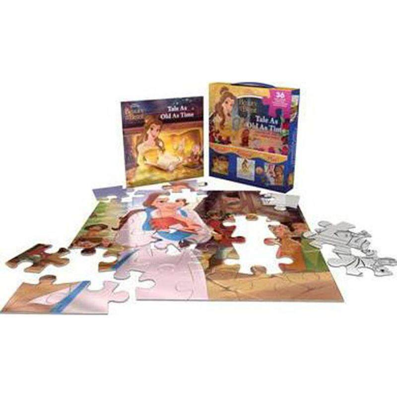 Disney Princess Beauty and the Beast Tale as Old as Time : Storybook and 2-in-1 Jigsaw Puzzle Malaysia