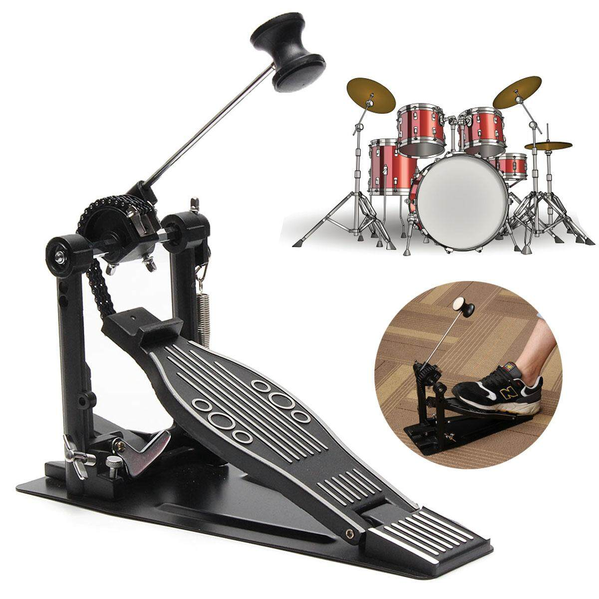 Drum Pedal Percussion Single Foot Kick Bass Drum Pedal Chain Drive - intl