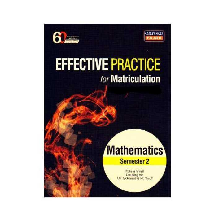 Effective Practice for Matriculation Mathematics Semester 2, Oxford Fajar