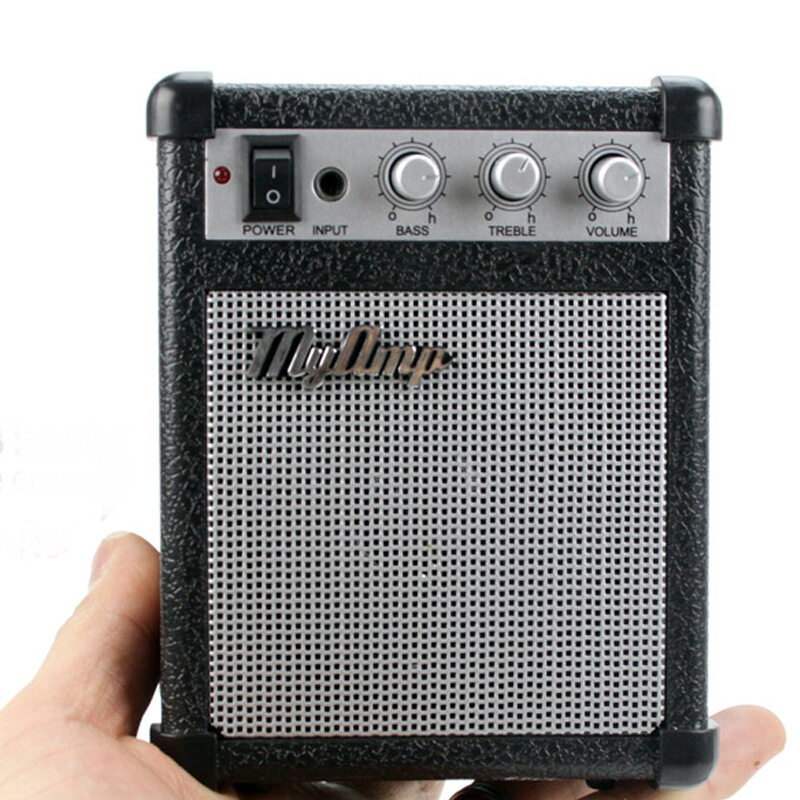 Electric Guitar Amplifier Engraved Audio Mini-portable Engraved Guitar Amp(Volume Adjustable)