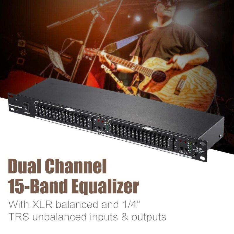 EQ-215 Dual Channel 15-Band Equalizer 1U Rack Mount Malaysia