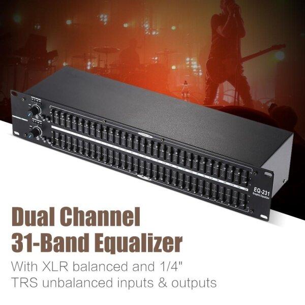 【Free Shipping】EQ-231 Dual Channel 31-Band Equalizer 2U Rack Mount US PLUG Malaysia