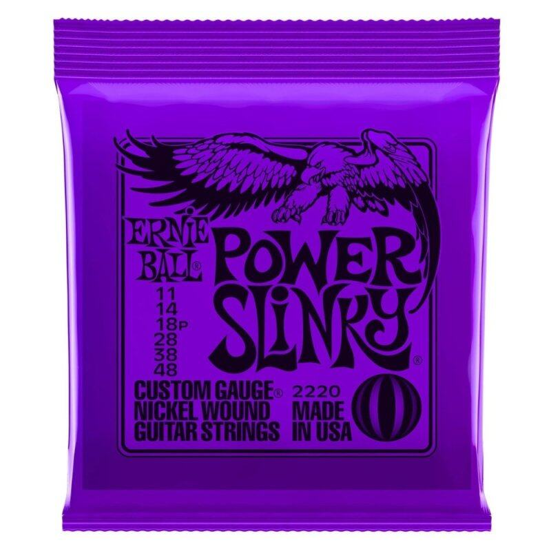 Ernie Ball 2220 Power Slinky Nickel Wound Electric Guitar Strings Package (6-String Set, .011 - .048) Malaysia