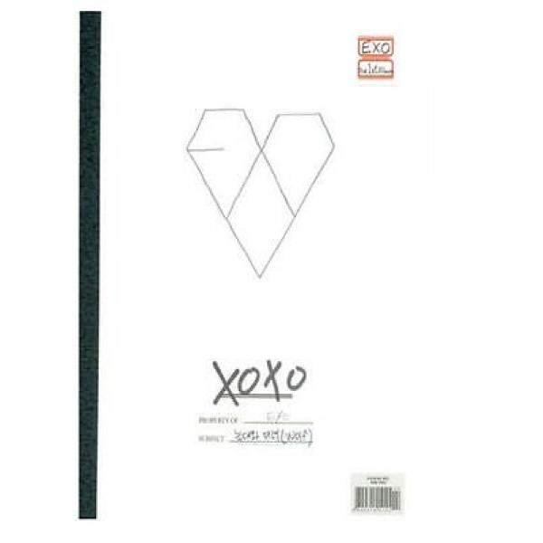 EXO Vol.1 Xoxo Ciuman Versi 1st Album CD K-POP Disegel dengan Kartu Foto-Intl