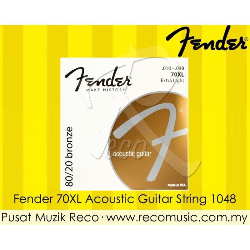 Fender 70XL 80/20 Bronze Acoustic Guitar String Extra Light 1048 Malaysia