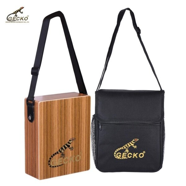 GECKO C-68Z Portable Traveling Cajon Box Drum Hand Drum Wood Percussion Instrument with Strap Carrying Bag Malaysia