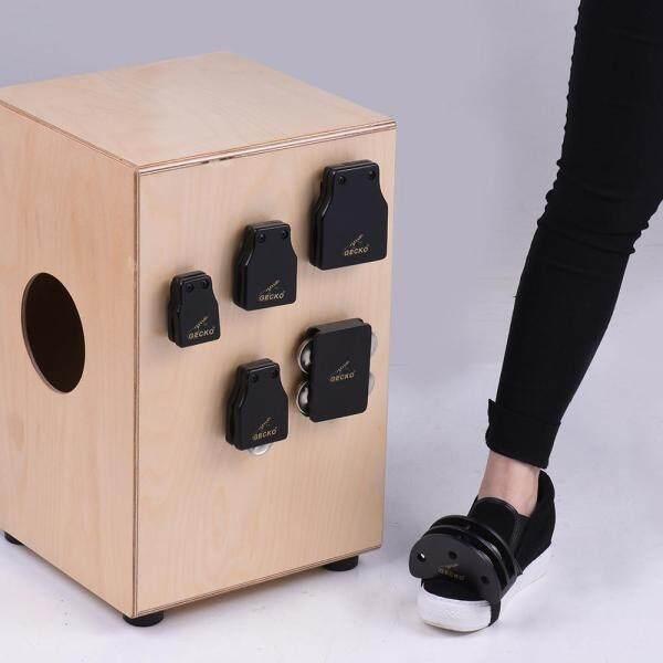 GECKO GK Series Cajon Box Drum Companions Set Including Castanets Jingle Bells Foot Tambourine Percussion Instruments Malaysia