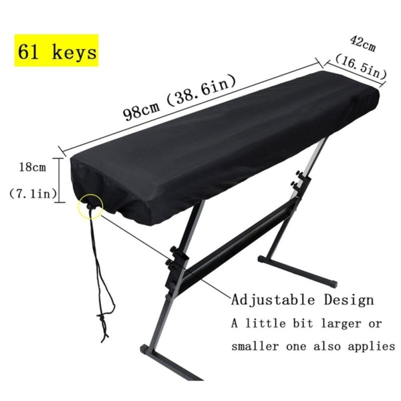 GL Nylon Piano Keyboard Dust Cover with Adjustable Cord Lock Keyboard Cover for 61 Keys Piano Keyboard Malaysia