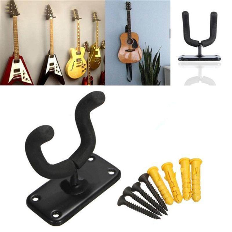Guitar Hanger Holder Wall Mount Display Stand Rack Bracket Serves For Acoustic Electric Bass Guitar Parts & Accessories + Screws Malaysia