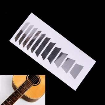 รีวิว BolehDeals Sound Hole Decal Sticker for 40 41… ซื้อที่ไหน Guitar Inlay Sticker For Electric Acoustic Guitar Fretboard Marker Scale Decal Silver – intl