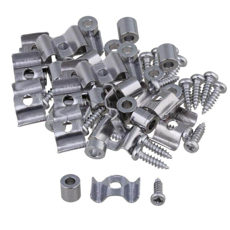 Guitar Parts String Tree Guide Retainer Spacer & Screw Set of 10 Chrome Malaysia