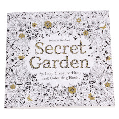 HengSong Secret Garden An Inky Treasure Hunt And Coloring Book 96 Pages English