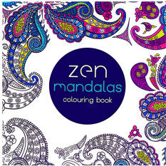 HengSong Secret Garden Zen Mandala And Coloring Book English 12pages