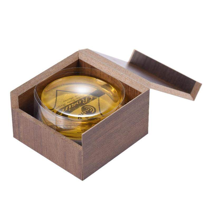 High-Class Transparent Yellow Rosin Colophony Low Dust Handmade Rounded with Wooden Box Universal for Violin Viola Cello Erhu Bowed String Musical Instruments Malaysia