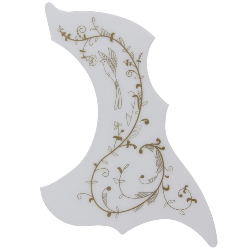 Hummingbird Acoustic Guitar Celluloid Pickguard Scratch Plate Pick Guards(White) Malaysia