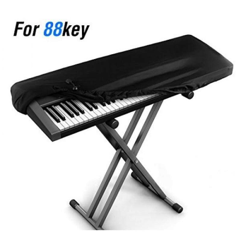 JamBer Stretchable Electronic Piano Keyboard Dust Cover for 88 Key Keyboard, Black Malaysia