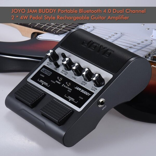 JOYO JAM BUDDY Portable Bluetooth 4.0 Dual Channel Pedal Style Guitar Amplifier Amp Speaker with Delay Overdrive Clean Effects US BLACK Malaysia