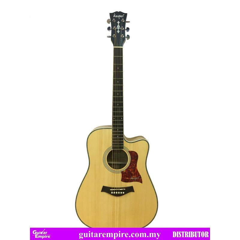 KASPAR Semi-Acoustic Guitar K218C-EQ, With Pickup and Built-in Tuner, Rosewood Fingerboard, Matte Furnishing Malaysia