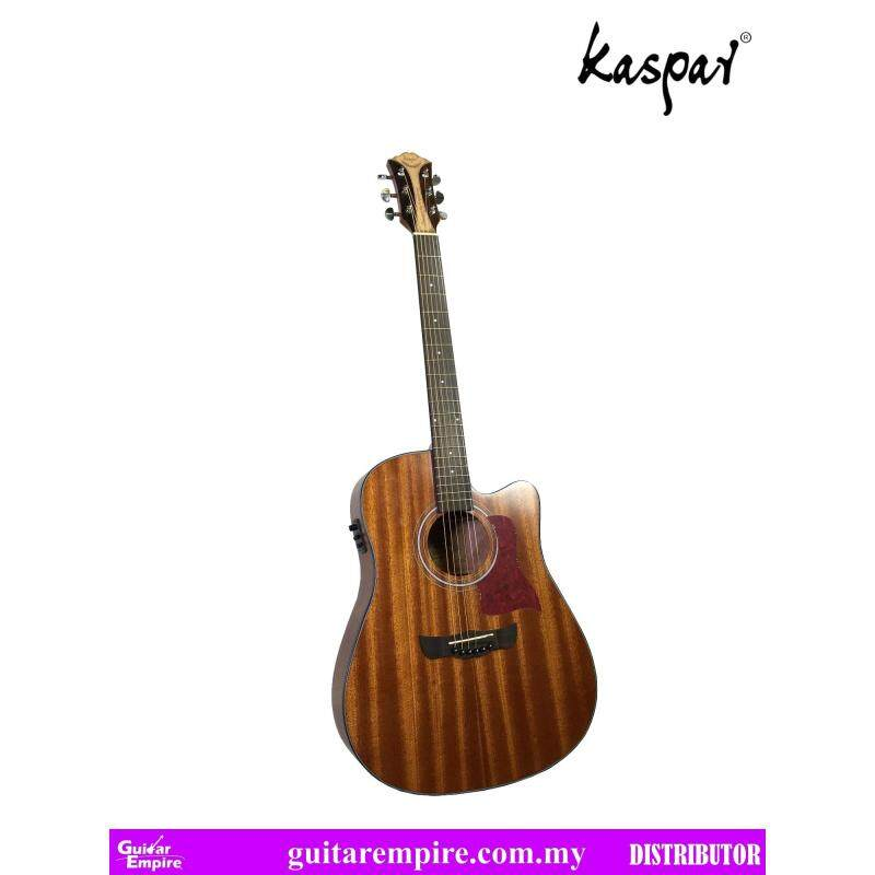KASPAR Semi-Acoustic Guitar K515C-EQ, With Pickup and Built-in Tuner, Rosewood Fingerboard, Matte Furnishing Malaysia