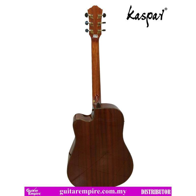 KASPAR Solid Top Semi-Acoustic Guitar K655C-EQ, With Pickup and Built-in Tuner, Rosewood Fingerboard, Gloss Furnishing Malaysia