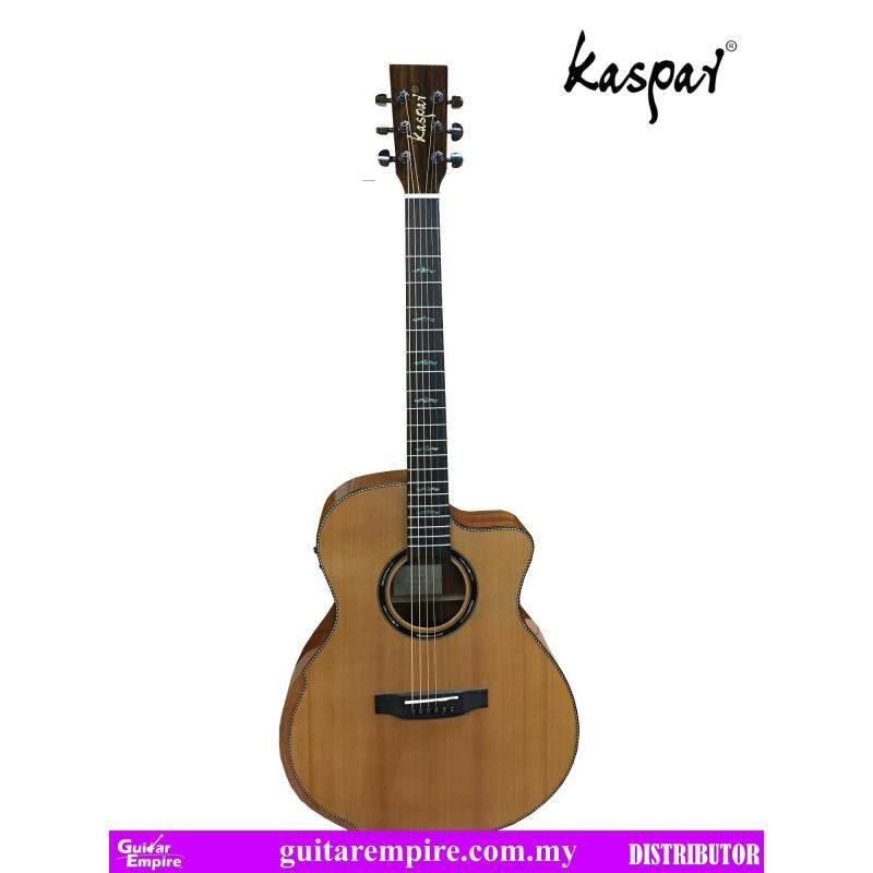 KASPAR Solid Top Semi-Acoustic Guitar K75C-EQ, With Pickup and Built-in Tuner, Rosewood Fingerboard, Gloss Furnishing Malaysia