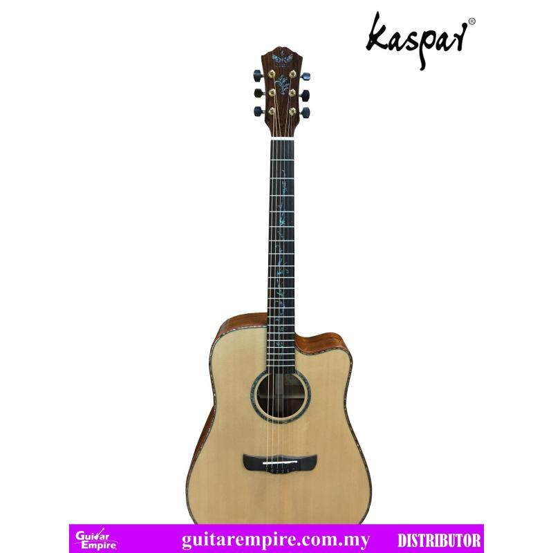 Kaspar Solid Top Semi-Acoustic, K417C-EQ, with Pickup and Built-in Tuner, Rosewood Fingerboard, Gloss Furnishing Malaysia