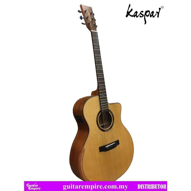 Kaspar Solid Top Semi-Acoustic, K75C-EQ, with Pickup and Built-in Tuner, Rosewood Fingerboard, Matte Furnishing Malaysia