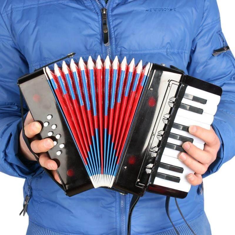 Kids Children 17-Key 8 Bass Mini Small Accordion Educational Musical Instrument Rhythm Band Toy Black Malaysia