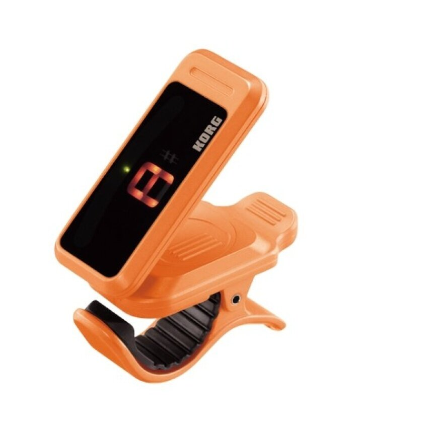 Korg Pitchclip,Clip On Tuner for Guitar/Bass (Orange) - intl