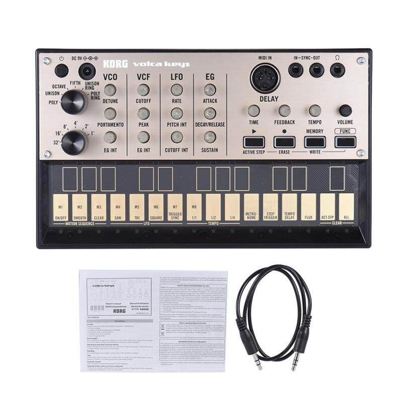 KORG VOLCA KEYS Portable Analog Synthesizer Synth Built-in Delay Effect Loop Sequencer with MIDI In 3.5mm Sync In/ Out Headphone Jacks Malaysia