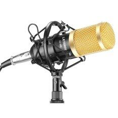 LETSBAY LS-800 Professional Studio Broadcasting & Recording Microphone Set Including (1)NW-800 Professional Condenser Microphone + (1)Microphone Shock Mount + (1)Ball-type Anti-wind Foam Cap + (1)Microphone Power Cable (Black)