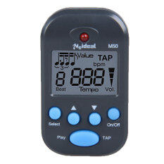 M50 Professional Lcd Clip-On Digital Tuner Metronome For Guitar Piano Black By Welcomehome.
